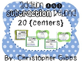 Addition and Subtraction Beyond 20 Math Centers Bundle