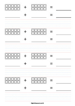 Addition and Subtraction Bundle - Tens Frames (Numbers an Words)