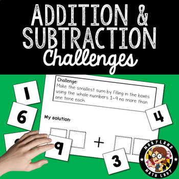 Addition and Subtraction Challenges with Digit Cards
