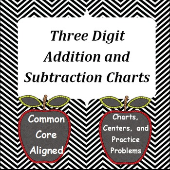 Addition and Subtraction Charts for Three Digit Problems