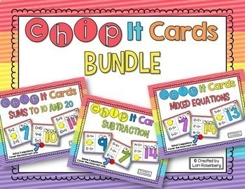 Addition and Subtraction Chip it Cards BUNDLE {Numbers to 20}