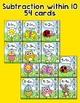 Addition and Subtraction Clip Cards Math Center - Spring a