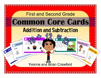 Addition and Subtraction Task Cards (first and second grade)