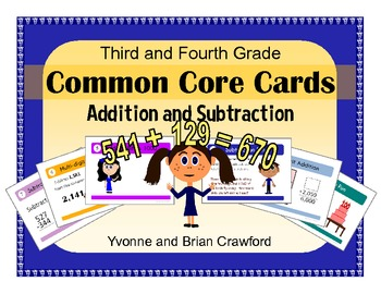 Addition and Subtraction Task Cards (third and fourth grade)