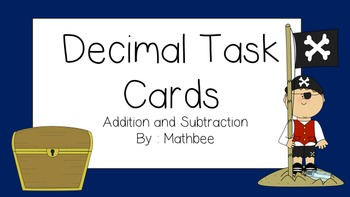 Addition and Subtraction Decimal Task Cards