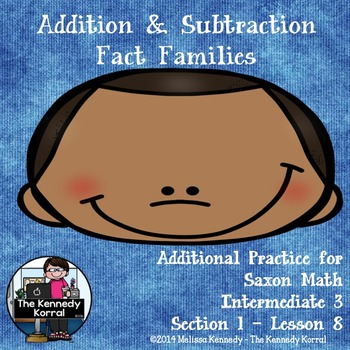 Addition and Subtraction Fact Families {Family Numbers, Fa