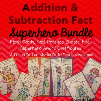 Addition and Subtraction Facts Superhero - fact practice t
