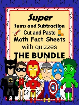 """Addition and Subtraction Facts  """"The Bundle""""-cut and paste"""