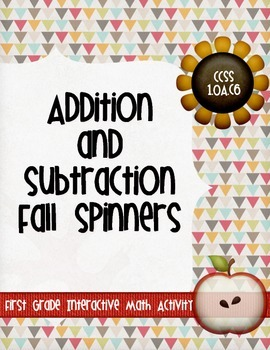 Addition and Subtraction Fall Spinners within 20