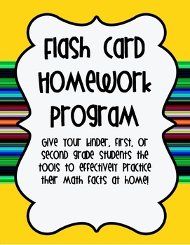 Addition and Subtraction Flash Card Homework Program~K-2 C