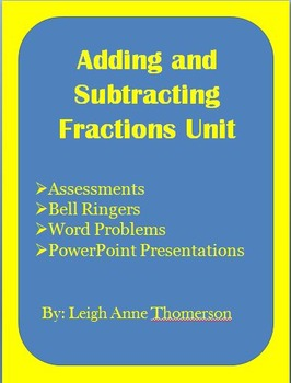 Addition and Subtraction Fraction Unit