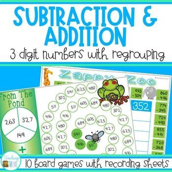 Addition and Subtraction Games - 3 digit subtraction with