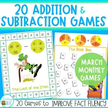 Addition and Subtraction Fact Fluency for March