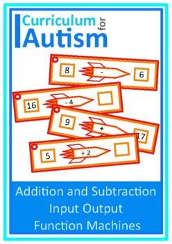 Add Subtract Input & Output Function Machines, Algebra, Au
