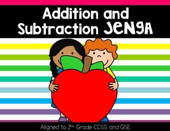 Addition and Subtraction Jenga
