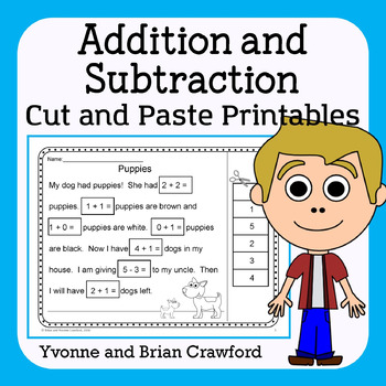 Addition and Subtraction (K and 1st grade) Cut and Paste P
