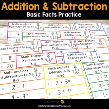 Addition and Subtraction Math Anchors: Aligned with Common Core