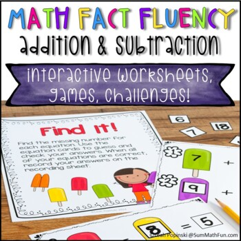 First and Second Grade Math Centers Addition and Subtraction