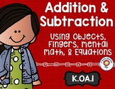 Addition and Subtraction Math Tasks and Exit Tickets for K