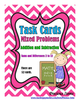 Addition and Subtraction Mixed Problems:  Answers 2 to 12