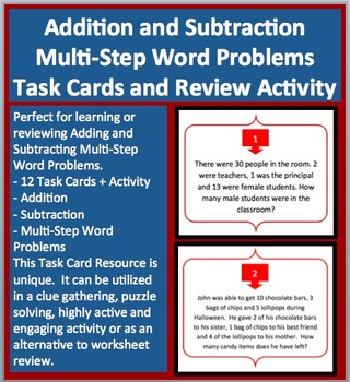 Addition and Subtraction Multi-Step Word Problems - Task C