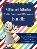 Addition and Subtraction Partial Sums and Differences Bundle