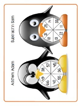 Addition and Subtraction Penguin Wheels