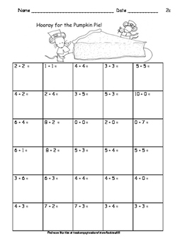 Thanksgiving Addition and Subtraction Practice:  Facts to