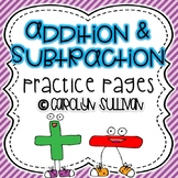 Addition and Subtraction Practice Worksheets!