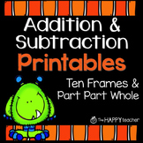 Addition and Subtraction Printables {FREE} Fall & Hallowee