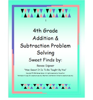 Addition and Subtraction Problem Solving 4th Grade