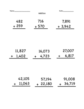 Addition and Subtraction Problems