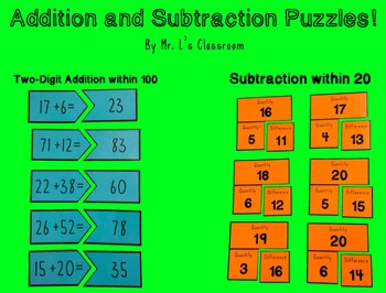 Addition and Subtraction Puzzles!