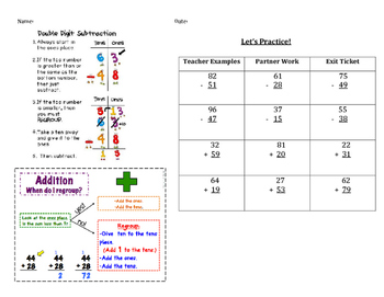 Addition and Subtraction Re-teaching