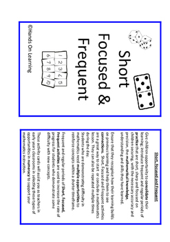 Addition and Subtraction SFF Activities