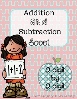 Addition and Subtraction Scoot, Two Digit by Two Digit