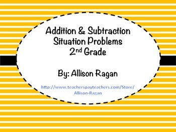 Addition and Subtraction Situation Cards (2nd Grade)