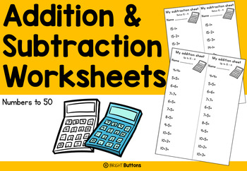 Addition and Subtraction Skill Practice - Numbers to 50