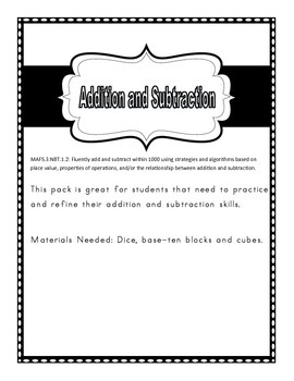 Addition and Subtraction Stations Pack