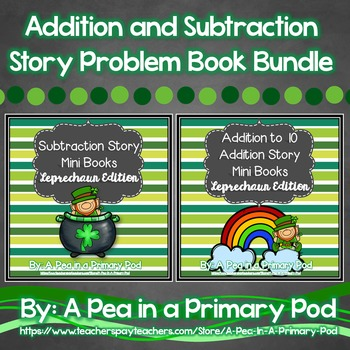 Addition and Subtraction Story Bundle (Leprechaun/St. Patr