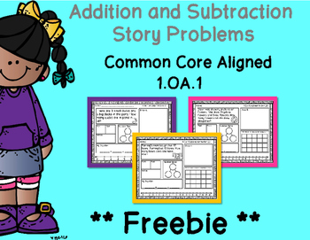 Addition and Subtraction Story Problems - Preview FREEBIE