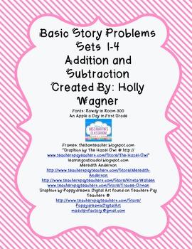 Basic Story Problems Sets 1-4