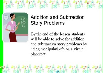 Addition and Subtraction Story Problems:key words and strategies