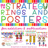 Addition and Subtraction Strategies : Posters and Rings