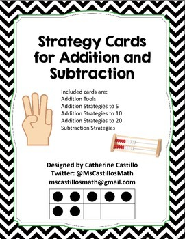 Addition and Subtraction Strategy Cards for Small Group Gu