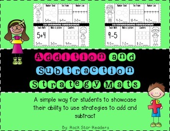 Addition and Subtraction Strategy Mats {printables for pra