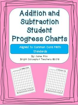 Addition and Subtraction Student Progress Charts {Common C