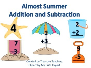 Addition and Subtraction Summer Themed Small Group or Whol