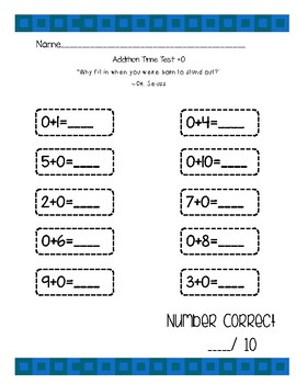 Addition and Subtraction Time Tests