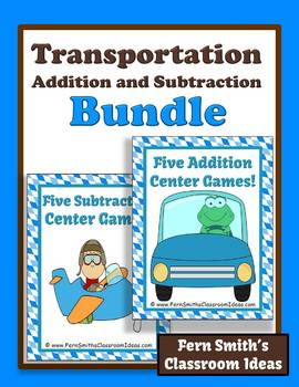 Addition and Subtraction Transportation Center Games
